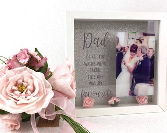 Unique Photo Frame Wedding Memento Father's Day / Birthday Gift