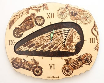 "Clock ""Indian Motorcycle"""