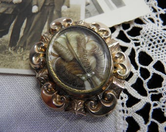 Rare Victorian Swivelling Mourning Brooch