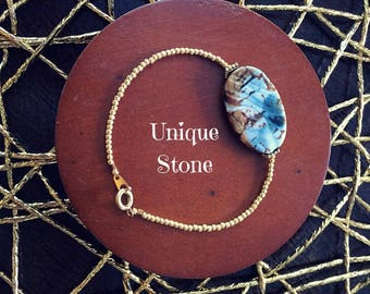 Featured Gem Bracelet - Gold Plated