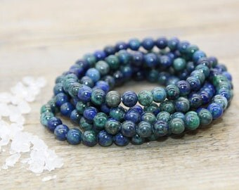 Bracelet beads of lapis lazuli natural natural /pierre / fine gemstone jewelry