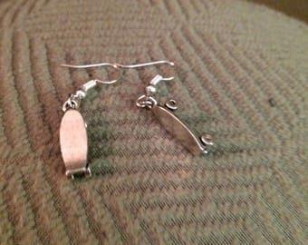 Skateboard earrings