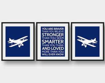 60% OFF Set Of 3 Prints, Aviation Decor, Airplane Print, Boys Room Decor, Aviation Art, Nursery Decor, Baby Shower Gift, Airplane Decor
