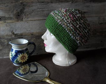 Green Hat with matching shades.