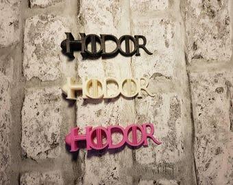 """3d Printed """"Hodor"""" Door Wedge/Doorstop Featuring 'Hodors'  Face... GOT"""