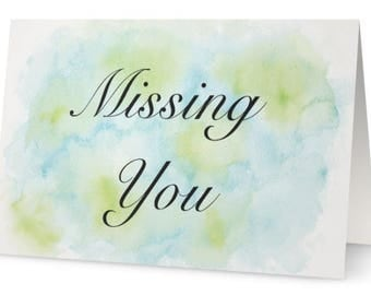 Miss You Greeting Card, Blank Inside