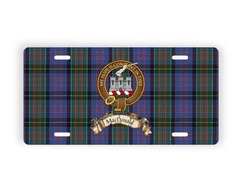 Scottish Clan Crest MacDonald of Clanranald Novelty License Plate
