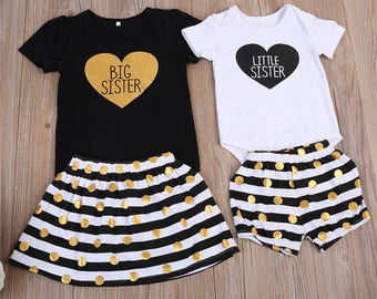 Little sister bodysuit, big sister little sister outfits, Pregnancy announcement, big sister little sister, Big Sister Little Sister Set