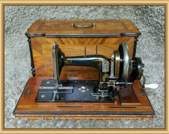 Gritzner | Antique Sewing Machine | Durlach 1890s | Rectangular Wooden Casing | Máquina de Coser | Machine à Coudre | FREE Shipping