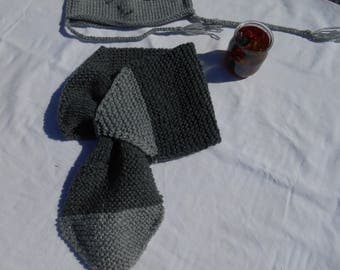 scarf knit gray toddler