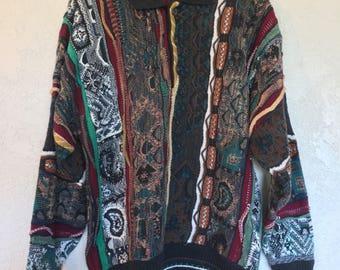 Alfani Coogi-like Striped Sweater
