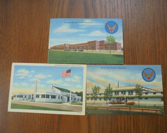 Vintage Lot of Army Air Corp/Air Force Postcards (3)