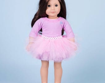 Doll tutu, American girl size doll tutu and tube top.tulle skirt