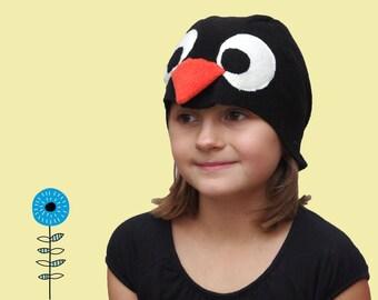 Kids Halloween costume, kids penguin costume hat, toddler pretend play, toddler costume, 4T-9T
