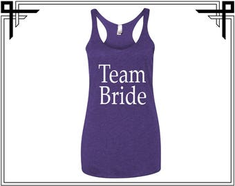 Team Bride Women's Triblend Racerback Tank Team Bride Racerback Tank Top Team Bride Top Team Bride Tank Bride Party Tank Top Gift For Her