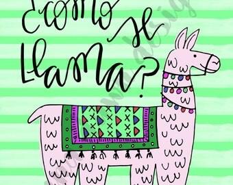 Como Se Llama - funny llama printable