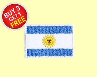 Argentina Flag Patches Iron On Embroidered Patches Embroidered Applique