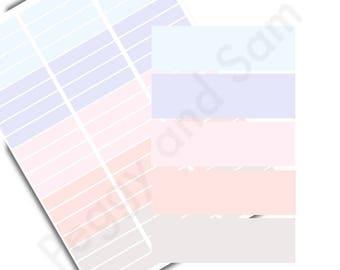 Pastel Headers Printable Planner Stickers - DIGITAL FILE, Weekly Monthly Planner Sticker