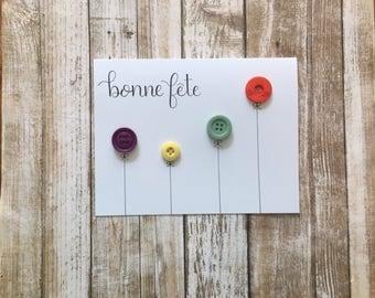 Bonne fete card, french birthday card,  greeting card, happy birthday card, birthday card, birthday card for Mom, birthday cards handmade