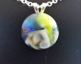 "Multi-color Glass ""stone"" Necklace"