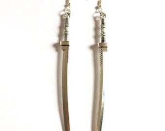 Silver Sword Earrings