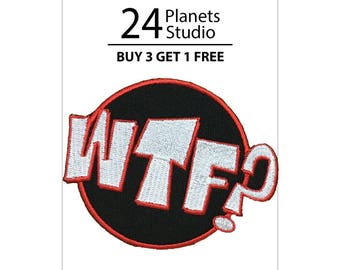 WTF? Iron on Patch by 24PlanetsStudio