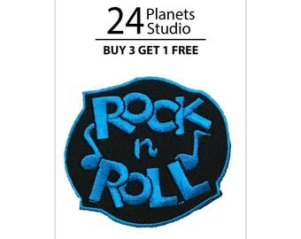 Rock n Roll Iron on Patch by 24PlanetsStudio