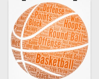 """16"""" x 16"""" Poster Football Basketball Volleyball Sports Lover Poster Gift for Football Lover Sports Fanatic Player Wall Art Bedroom Poster"""