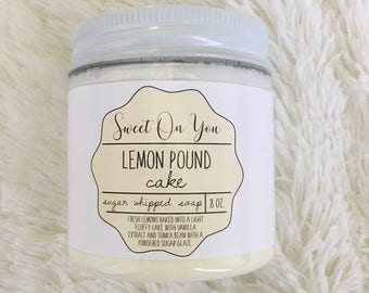 Lemon Pound Cake, Sugar Whipped Soap, Sugar Whipped Soap, Whipped Soap, Body Polish, Sugar Scrub, Bath and Body, Emulsified Scrub, Soap