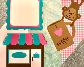 "12x12 Pre-Made Scrapbook Page- ""I Love Coffee"""