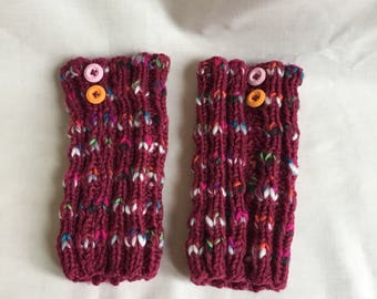 Hand knitted womens boot toppers