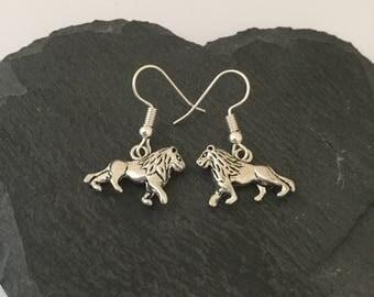 Lion earrings / lion jewellery / lion lover gift / animal earrings / animal jewellery / animal lover gift