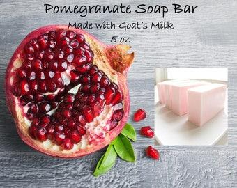 Goat's Milk Soap Bar - Perfect Pomegranate; Pomegranate Soap Bar; Goat's Milk Soap; Pomegranate Soap Bar; Fine Skin Care; Spa Products