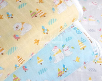 Cosmo double gauze - Polar bear fabric - 50cm