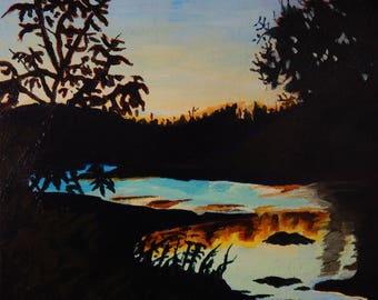 White River Sunset