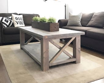 Rustic Coffee Table|Farmhouse Coffee Table