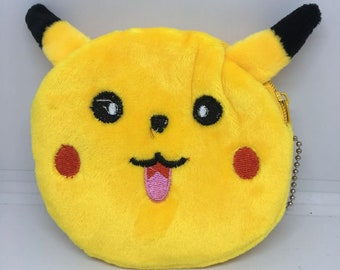 So Kawaii and cute from Japan Pikachu Coin Purse Mini Wallet Money Bag Change Pouch Key Holder Pokemon Charger Cord Holder
