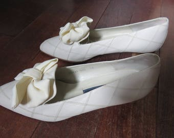 Pumps White Cream - Vintage - Ted Lapidus - All Leather - Special Ceremony -