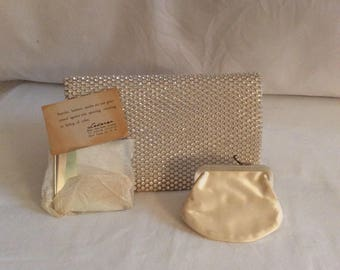 Lederer Crystal clutch with accessories