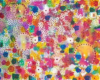 """Abstract - painting """"Impression"""" - multicolor abstract Contemporary Art - Art"""