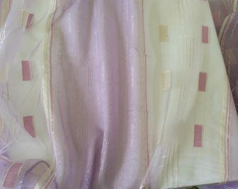 Sheer jacquard and 325 cm height lilac organza