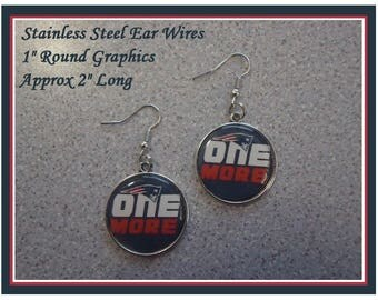 New England Patriots Earrings Come On Pats Give Us One More Super Bowl Win Earrings Tom Brady NE Patriots NE Pats Super Bowl Earrings