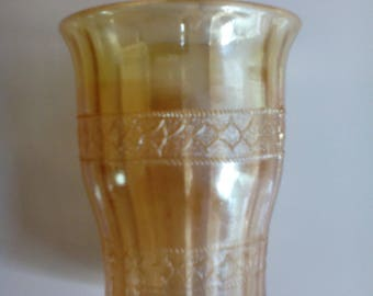 Carnival Glass Tumbler - Scale Band