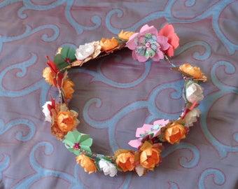 Origami cherry blossoms wreath