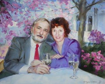 Commission canvas painting, Custom oil painting, Custom Oil Portrait, Commission portrait on canvas, Commission Oil painting from photo