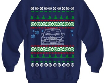Christmas Gift for BMW E30 M3 owners Ugly Christmas Sweater euro stance drifter Sweatshirt lowered porsche mercedes miata holidays  m3