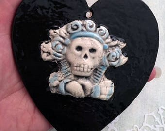 Day of the Dead Heart Ornaments