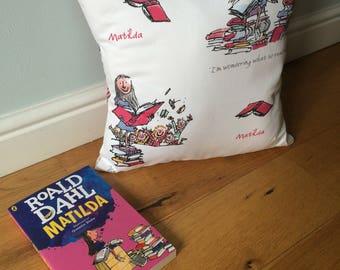 "Roald Dahl ""Matilda"" cushion"