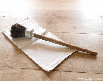 Decorative large antique French brush made of horsehair