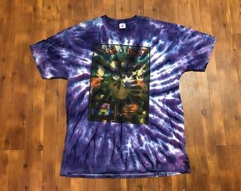 Vintage U2 Band T-shirt Pop XL 90's Purple Tie-dye Unisex Great condition Bono concert tee Hippie festival World peace